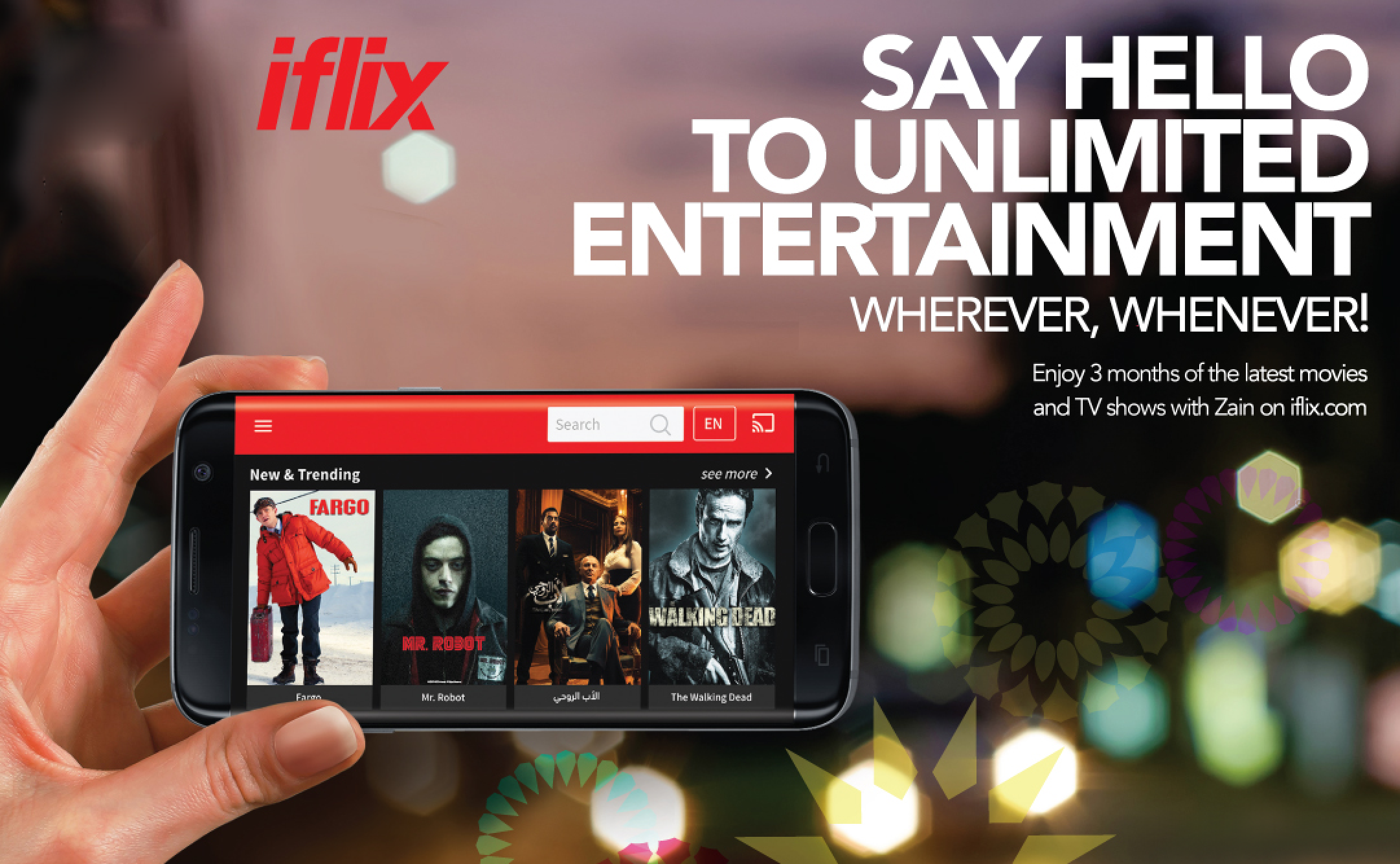 Commercial ad for iflix - say hello to unlimited entertainment