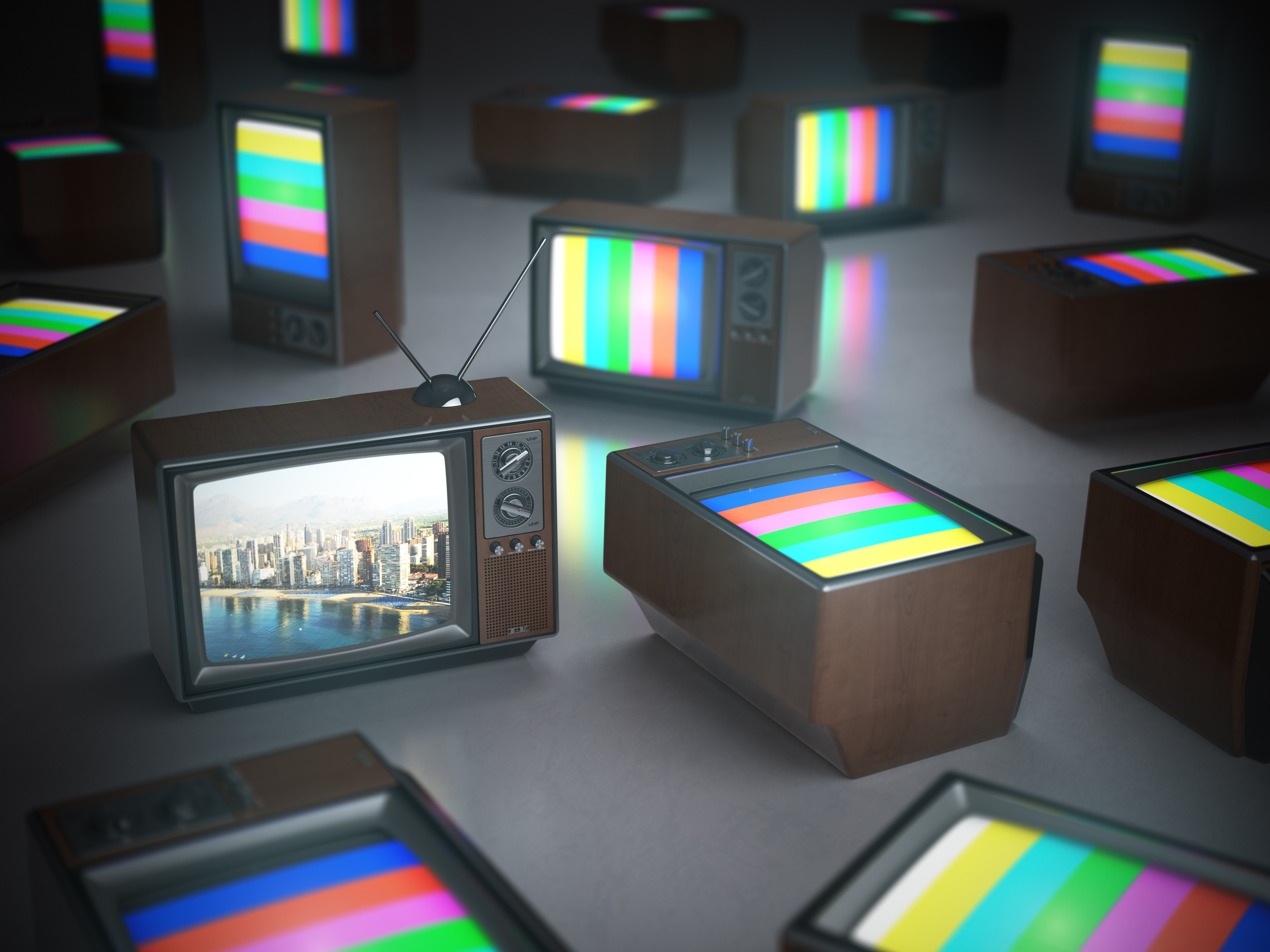 pile-of-vintage-tv-with-one-in-standby-tv-PE3PQY8
